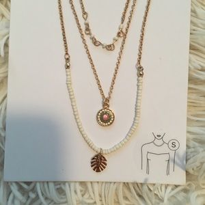 Tropical Gold Layered Necklaces